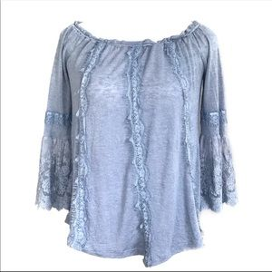 Living Doll Blue Lace Top